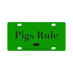 Pigs Rule Classic License Plate