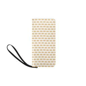 Gold Pig White Clutch Wallet Women's Clutch Purse (Model 1637)