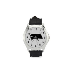 Black Pig Watch Women's Classic Leather Strap Watch(Model203)