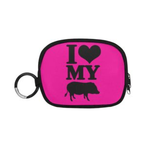 I Love My Pig Coin Purse