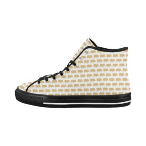 Gold Pig White High Tops Vancouver High Top Women's Canvas Shoes (Model1013-1)
