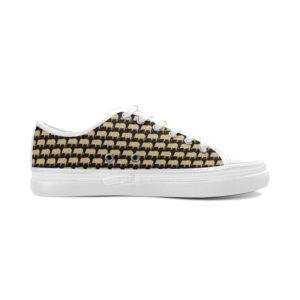 ladies gold pig tennis shoe Women's Nonslip Canvas Shoes(Model001)(Size 11-12)