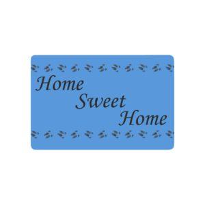 """Home Sweet Home in Black Doormat 23.6"""" x 15.7"""""""