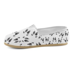 Black Hoof Print Tom's Style Ladies Shoe Casual Canvas Women's Shoes(Model004)
