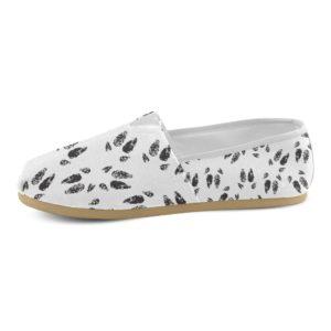 Black Hoof Print Tom's Style Ladies Shoe Casual Canvas Women's Shoes(Model004)