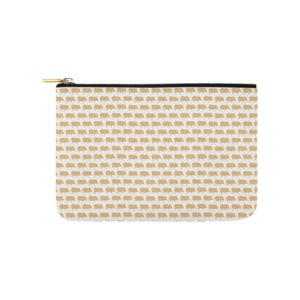 "Gold Pig White Carry All Carry-All Pouch 9.5""x 6"""