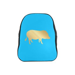 Gold Pig Backpack