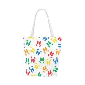 Color Hoof Print Tote Canvas Tote Bag (Model1657)