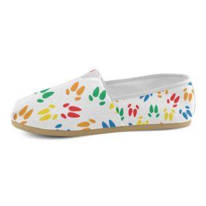 Color Hoof Print Tom's Style Ladies Shoe Casual Canvas Women's Shoes(Model004)