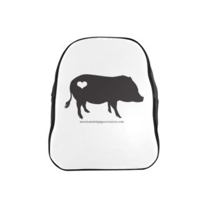 AMPA Black Pig Heart  Backpack