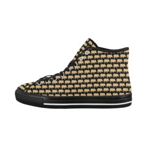 Gold Pig Black Hight Tops Vancouver High Top Women's Canvas Shoes (Model1013-1)