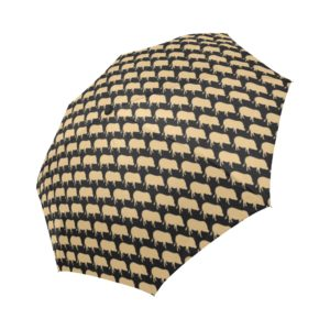 Gold Pig Umbrella Automatic Foldable Umbrella