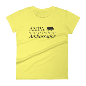 AMPA Ambassador Fitted Women's short sleeve t-shirt