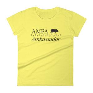 AMPA Ambassador Fitted Women's short sleeve t-shirt