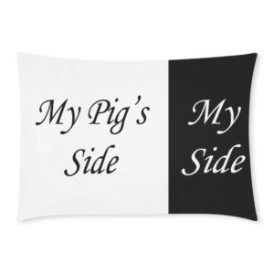 "My Side Pillowcase Black Rectangle Pillow Case 20""x30""(One Side)"