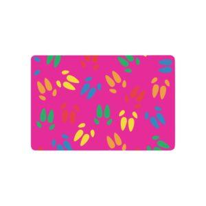 """Colored Hoof Print Doormat Doormat 23.6"""" x 15.7"""""""