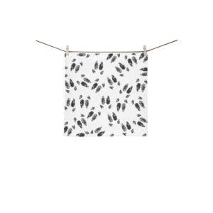 "Black hoof print towel Custom Towel 13""x13"""