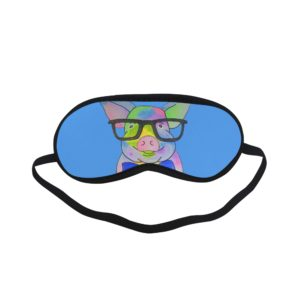 glasses pig (full face) Sleeping Mask MORE COLORS