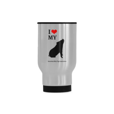 I Love My Pig Travel Mug(Sliver) (14 Oz)