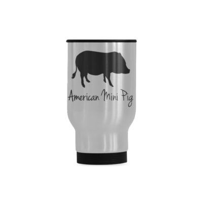 American Mini Pig Travel Mug(Sliver) (14 Oz)