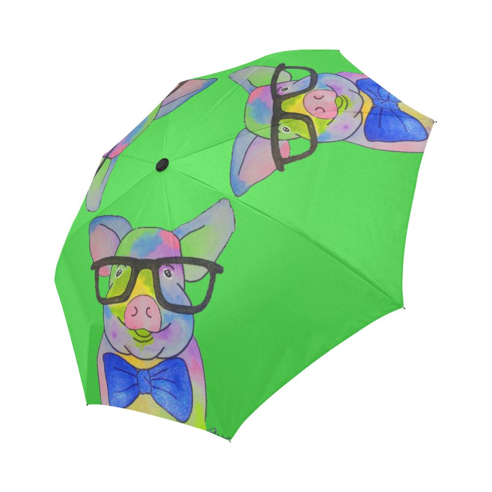 Glasses Pig Automatic Foldable Umbrella MORE COLORS   American Mini ...