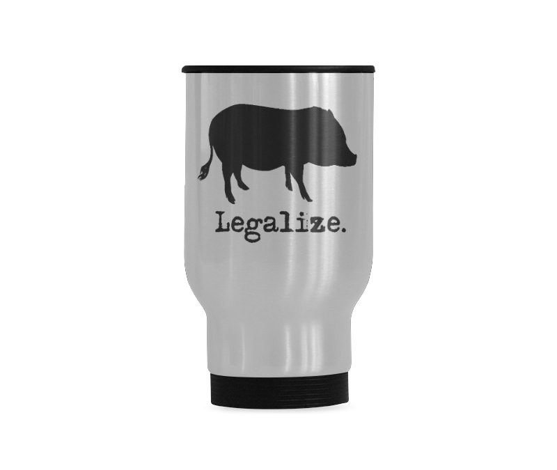 Legalize Travel Mug(Sliver) (14 Oz)