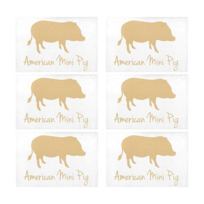 "American Mini Pig Placemats 12"" x 18"" (Set of 6)"