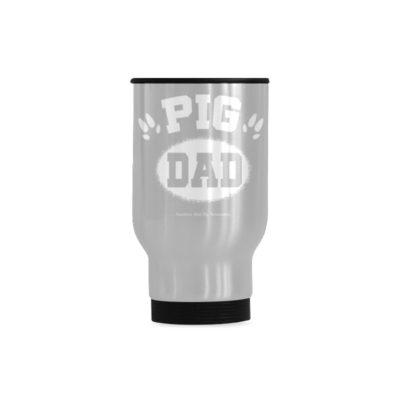 Pig Dad hoof Travel Mug(Sliver) (14 Oz)