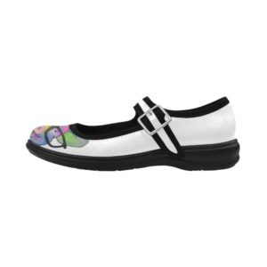 Pig in Glasses 9 Virgo Mary Jane Women's Flat (Model808)