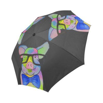 Glasses Pig Automatic Foldable Umbrella MORE COLORS