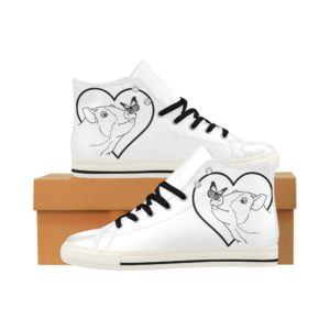 Butterfly Pig 2 Aquila High Top Action Leather Women's Shoes (Model027)