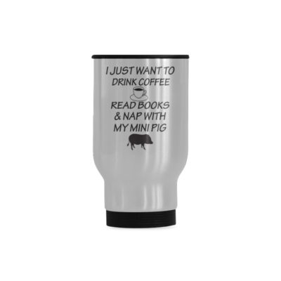 DRINK COFFEE Travel Mug(Sliver) (14 Oz)