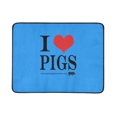 "I love pigs Portable & Foldable Training Beach Mat 60""x 78"""