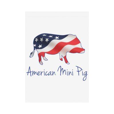 "American Flag Mini Pig House Flag 28"" x 40"""
