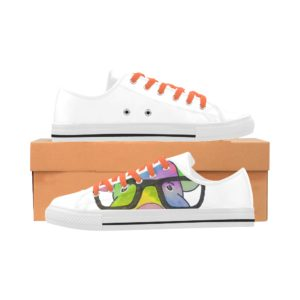 Pig in Glasses 4 Aquila Action Leather Women's Shoes (Model28)