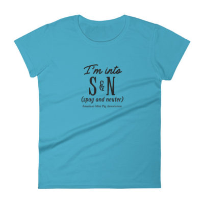 I'm into S&N ( spay & neuter) Women's short sleeve t-shirt