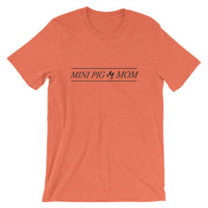 Mini Pig Mom Unisex short sleeve t-shirt