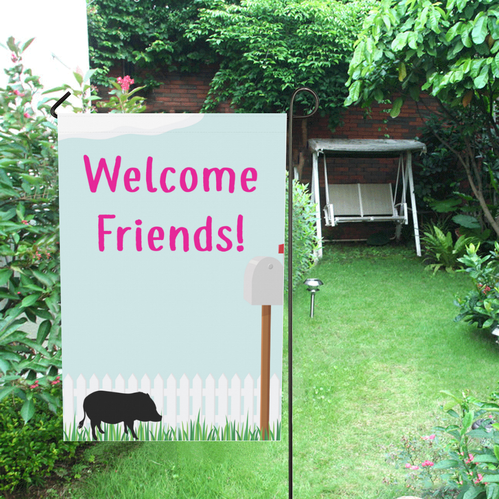 Welcome friends House Flag 28\