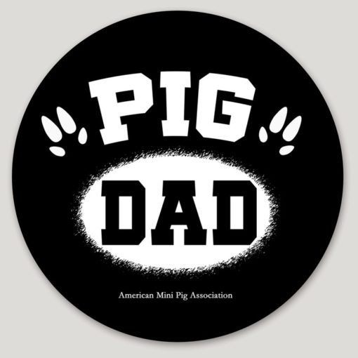 pig dad decal sticker