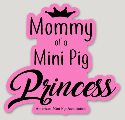 mini pig mommy decal sticker
