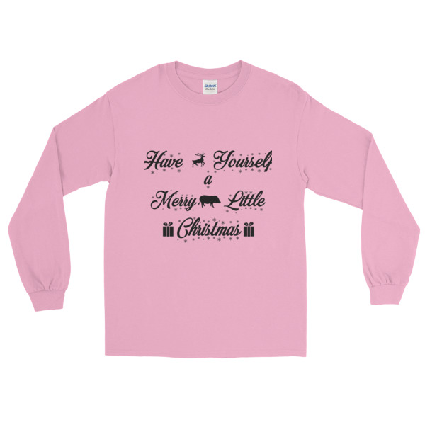 have yourself a merry little christmas long sleeve t shirt american mini pig online store