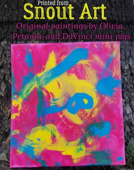 snout art painting pigs