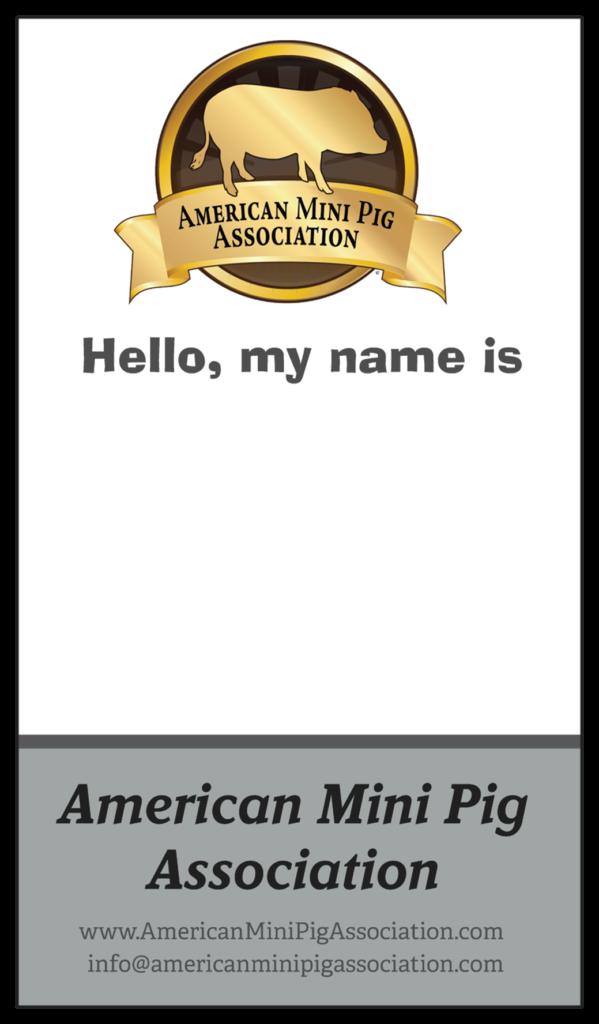 ampa ambassador name badge