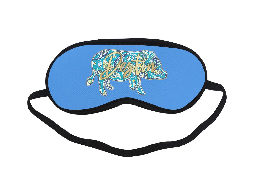 Full-Color-Destin Eye Mask Blue Sleeping Mask